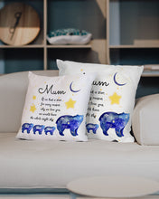 Load image into Gallery viewer, FOAL14 Personalized Pillow For Mother Mother's Day Gift, Bears - We Would Have The Whole Night Sky, With Personalized Text