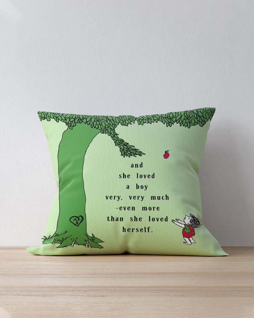 Happy Green Tree Pillow