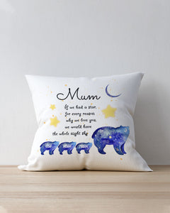 FOAL14 Personalized Pillow For Mother Mother's Day Gift, Bears - We Would Have The Whole Night Sky, With Personalized Text