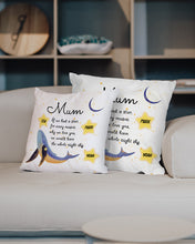 Load image into Gallery viewer, FOAL14 Personalized Pillow For Mother Mother's Day Gift, Dolphin - We Would Have The Whole Night Sky, With Personalized Text