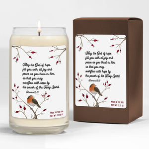 Foal14 Candle Christmas Gift, Robin Bird - Power Of Holy Spirit, 3 scents