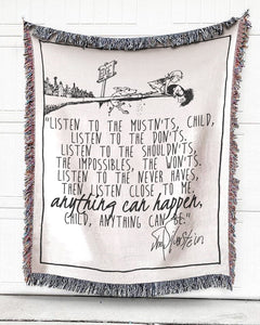 Foal14 Woven Throw For Kids Christmas Gift, Anything Can Happen, Cotton Blanket