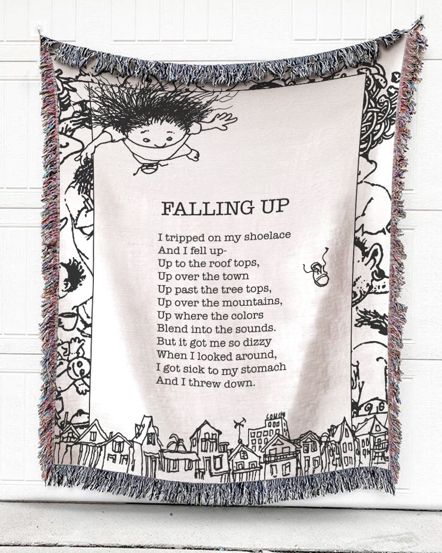 Falling Up Note Cotton Blanket