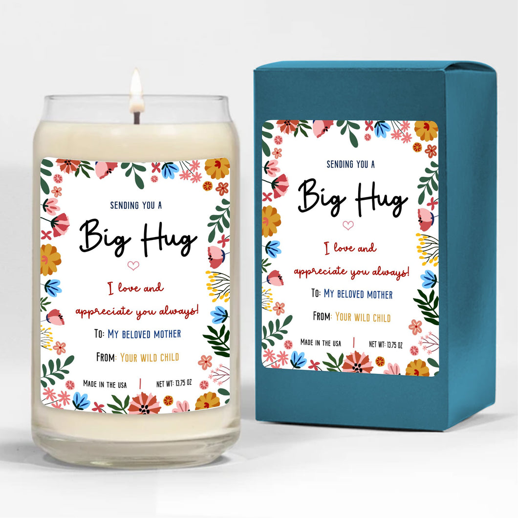 Foal14 Candle Christmas Gift, Sending You A Big Hug, 3 scents