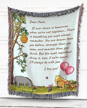 Load image into Gallery viewer, Foal14 Personalized Woven Blanket For Beloved One Birthday Gift, Dear P.o.o.h, With Personalized Text