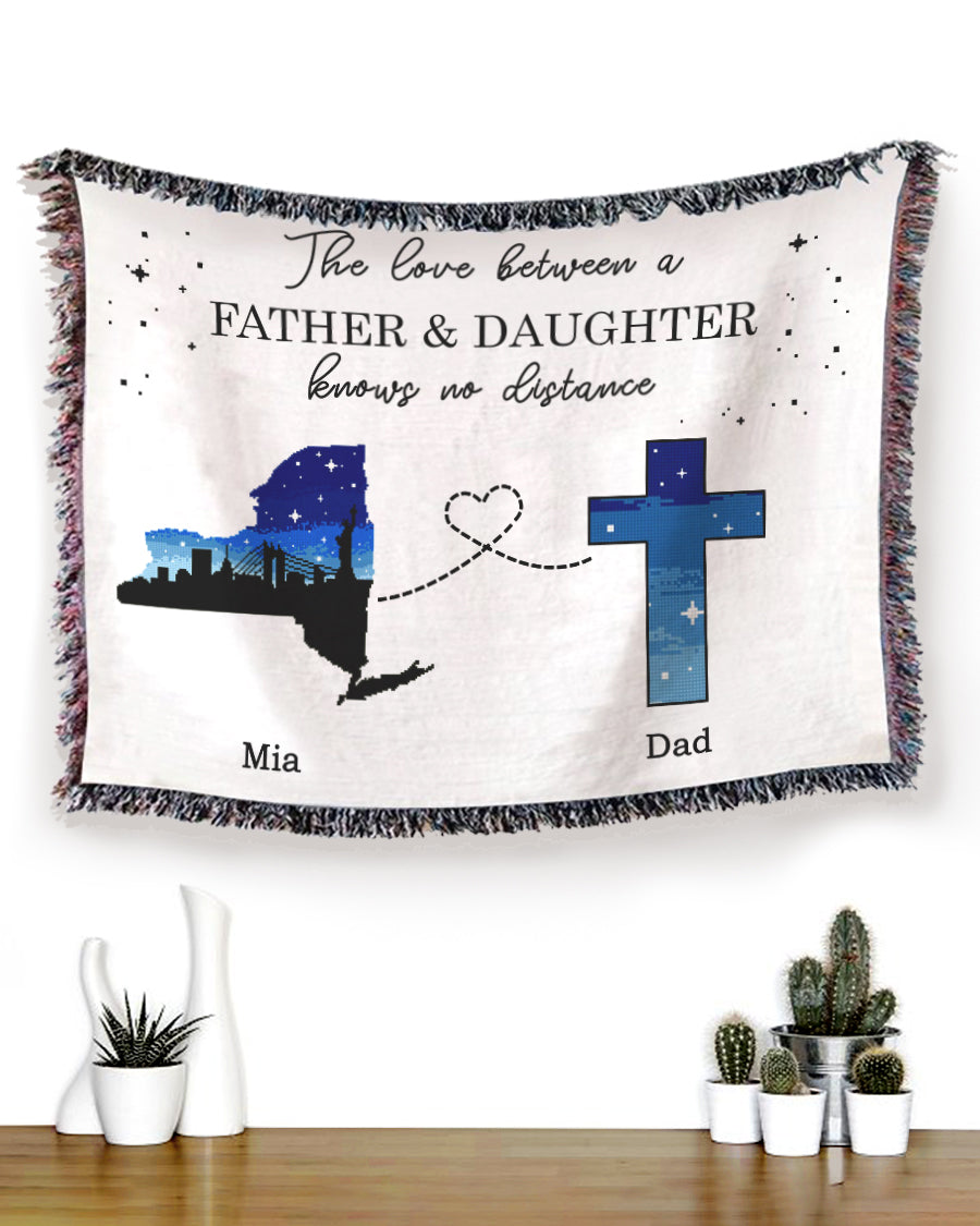 Foal14 Personalized Memorial Woven Blanket Remembrance Gift, Starry Sky In Heaven, With Personalized Names