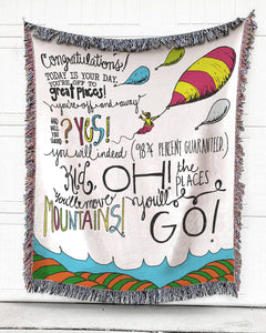 Today Is Your Day Note Cotton Blanket