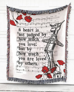 A Heart Is By How Much You Are Loved Cotton Blanket
