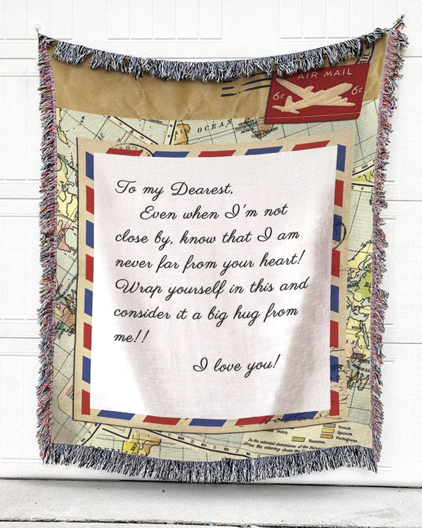 Foal14 Personalized Woven Blanket For Husband And Wife Anniversary Gift, Airmail by Airplane - Anniversary Boarding Pass, With Personalized Text