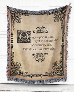 Foal14 Woven Throw For Husband And Wife Anniversary Gift, Love Glues Us, Cotton Blanket