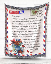 Load image into Gallery viewer, Foal14 Personalized Woven Blanket For Mother Mother's Day Gift, Dear Mom - Flower Note, With Personalized Text