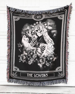 Foal14 Woven Throw For Husband And Wife Anniversary Gift, The Lovers, Cotton Blanket