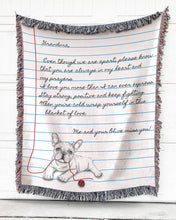 Load image into Gallery viewer, Foal14 Personalized Woven Blanket Christmas Gift, Distance Relationshop, Notebook Design, With Personalized Text