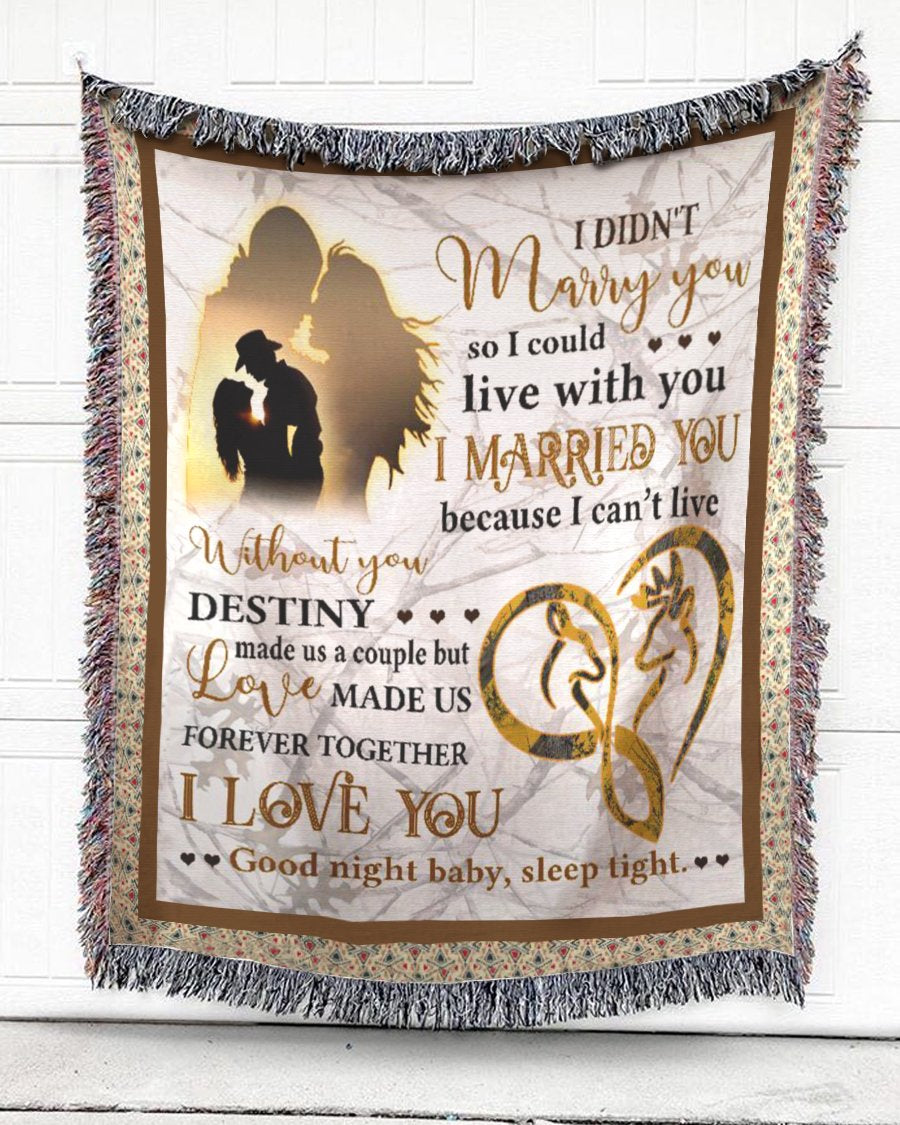 Foal14 Woven Throw For Husband And Wife Anniversary Gift, Love Made Us Together, Cotton Blanket