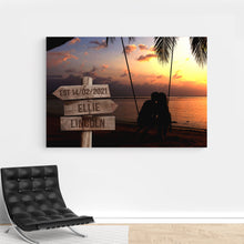 Load image into Gallery viewer, Foal14 Personalized Canvas For Partner Anniversay Gift, Couple And Landscapes, With Personalized Names