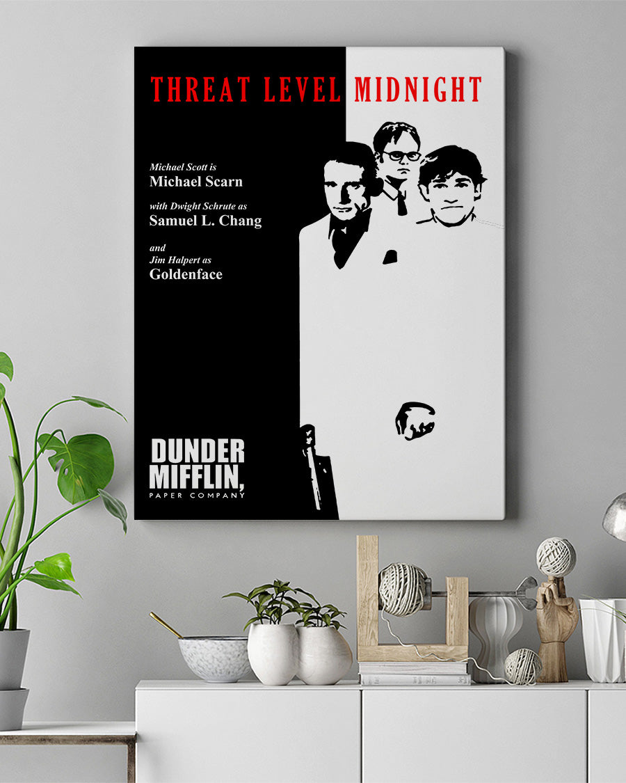 FOAL14 Canvas For TV Show Lover Christmas Gift, O.f.f.i.c.e - The Threat Level, Poster Home Decor