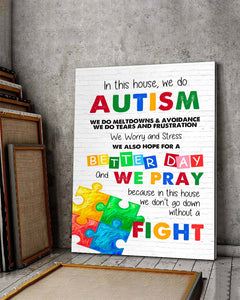 FOAL14 Canvas Autism Awareness Gift, We Do Autism, Home Decor