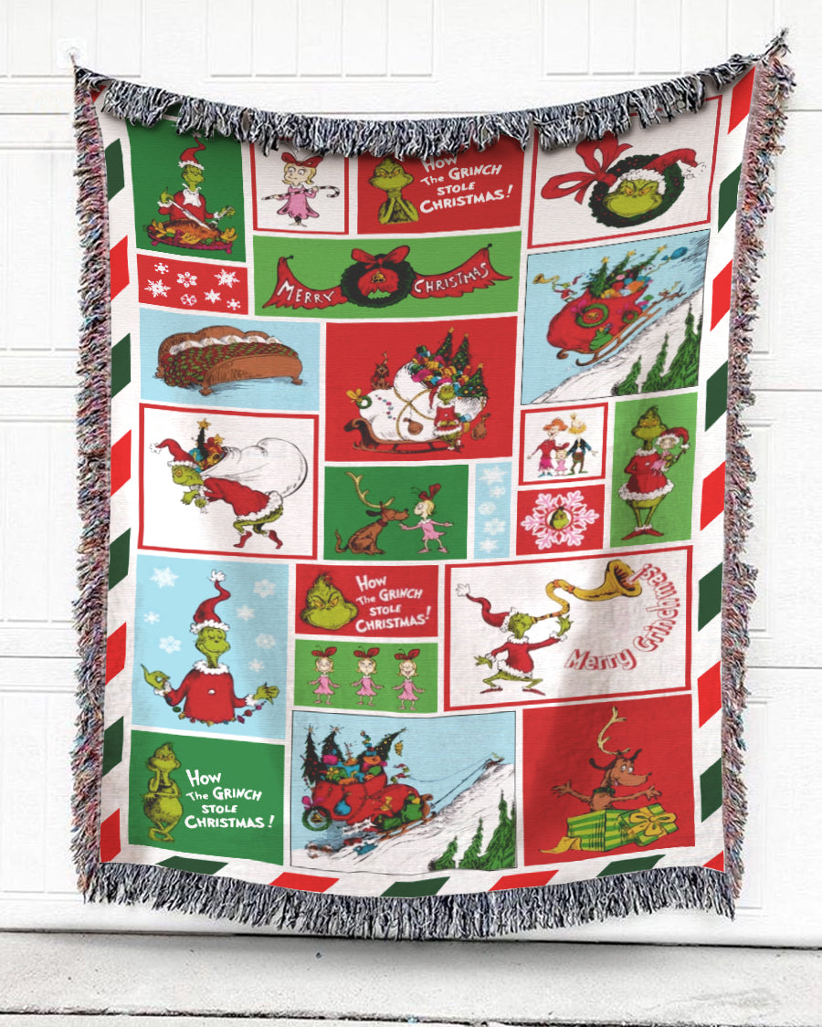 Foal14 Woven Throw For Kids Christmas Gift, Merry Stolen Christmas, Cotton Blanket