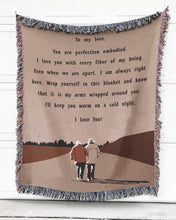 Load image into Gallery viewer, Foal14 Personalized Woven Blanket For Lover Valentine Gift, Sending Love, With Personalized Text