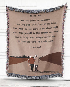 Foal14 Personalized Woven Blanket For Lover Valentine Gift, Sending Love, With Personalized Text