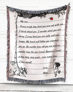 Personalized The Giving Letter Cotton Blanket