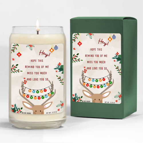 Foal14 Candle Christmas Gift, Deer - Hope This Remind You Of Me, 3 scents