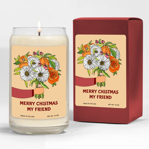 Foal14 Candle Christmas Gift, Merry Christmas My Friend, 3 scents