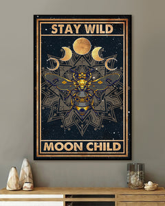 FOAL14 Poster, Stay Wild Moon Child, Home Decor
