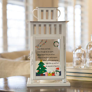 Foal14 Lantern, Home Decor, Christmas Vibe - Dear Mom And Dad, Candle Lantern