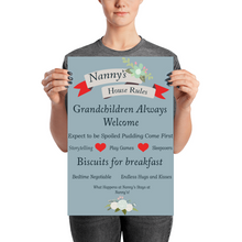 Load image into Gallery viewer, Nanny's House Rules Poster