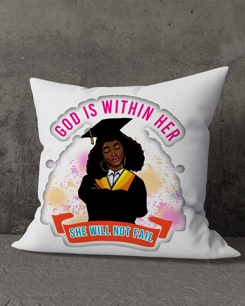 FOAL14 Graduation Pillow, She Will Not Fail, Polyester, Size S-L