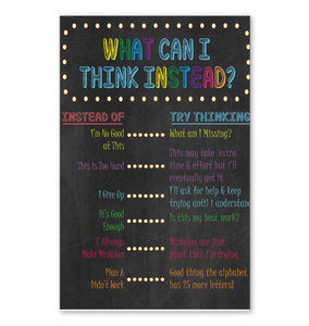 What Can I Think Instead Poster