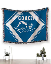 Load image into Gallery viewer, Foal14 Woven Throw For Sports Lovers Christmas Gift, Thanks Coach Of Sports, Cotton Blanket