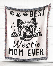 Load image into Gallery viewer, Foal14 Woven Throw For Animal Lovers Home Decor, Best Mom Of Dogs, Cotton Blanket