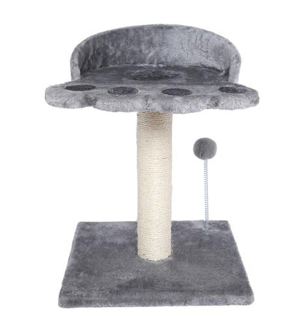 POILS BEBE CAT SCRATCHING POST AND TREE, CARPETED NATURAL SISAL TOWER WITH PLATFORM