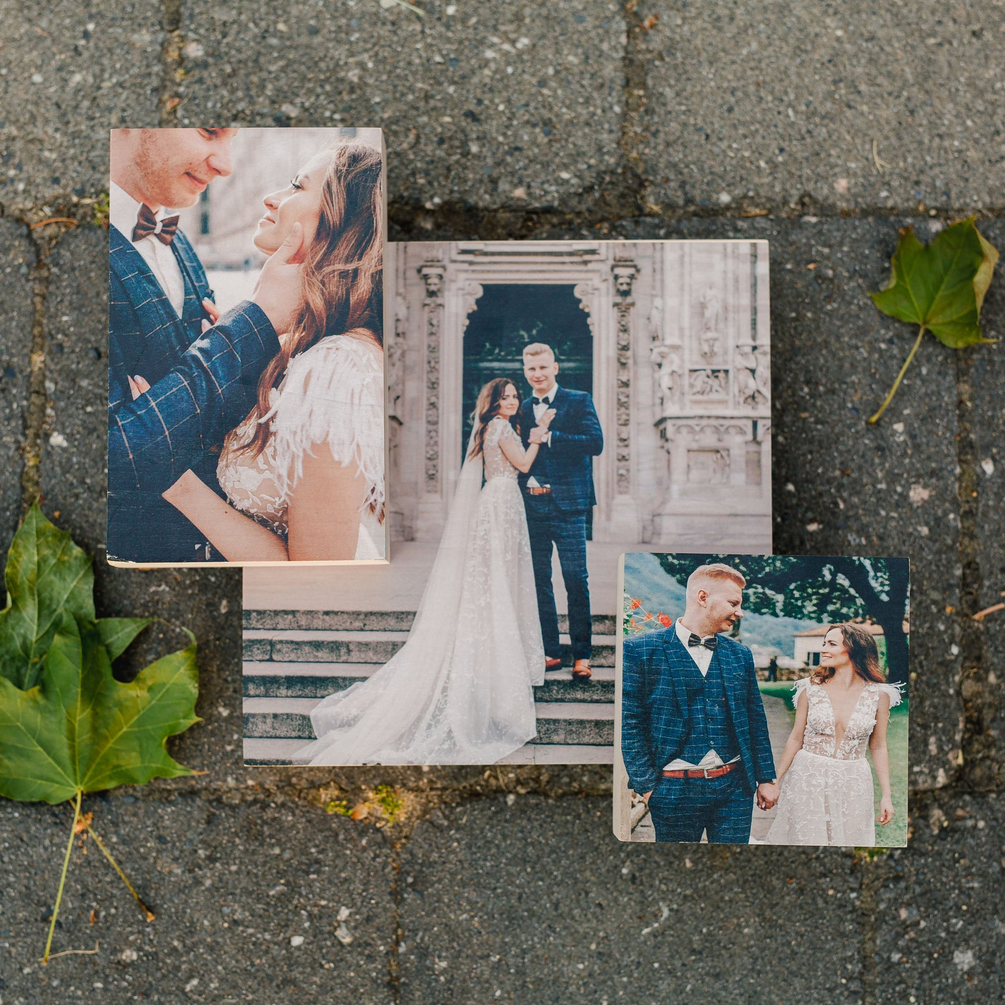 wedding wood photo blocks