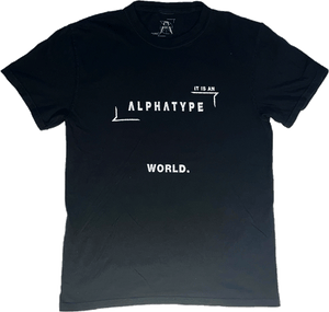 ALPHATYPE WORLD TEE [BLACK]