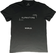 Load image into Gallery viewer, ALPHATYPE WORLD TEE [BLACK]