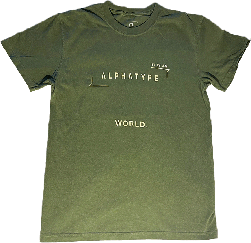 ALPHATYPE WORLD TEE [HEMP]
