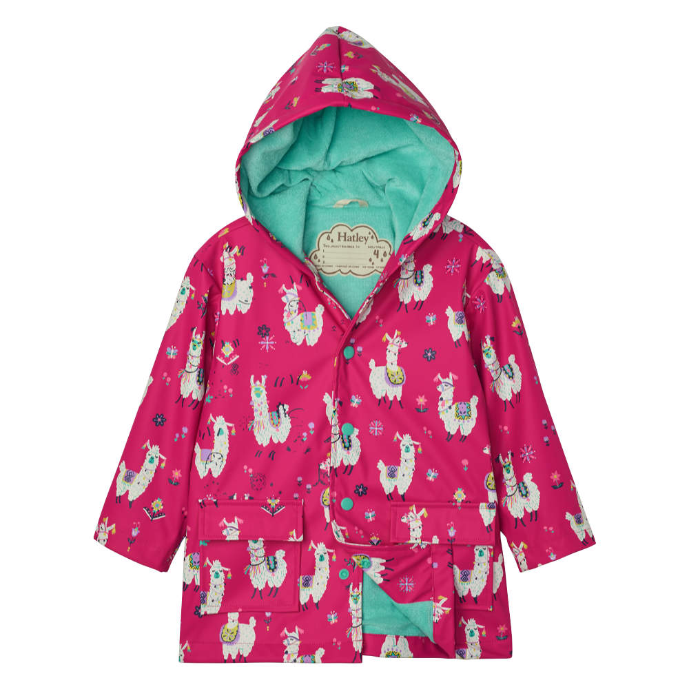 Hatley Pretty Alpacas Print Raincoat - F20PAK1336