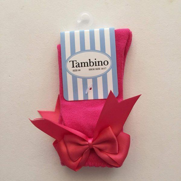 Tambino knee high socks double bow