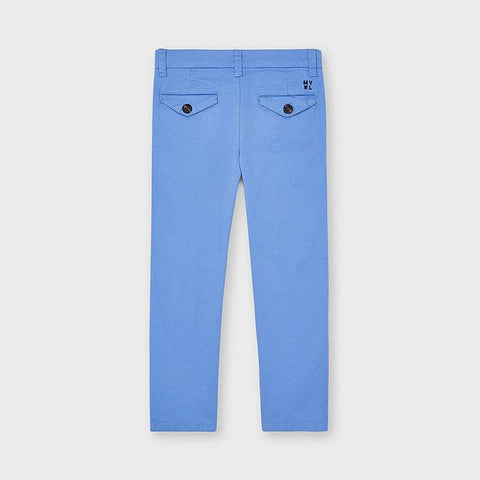 Mayoral Boys Twill Trousers Sky Blue 00512