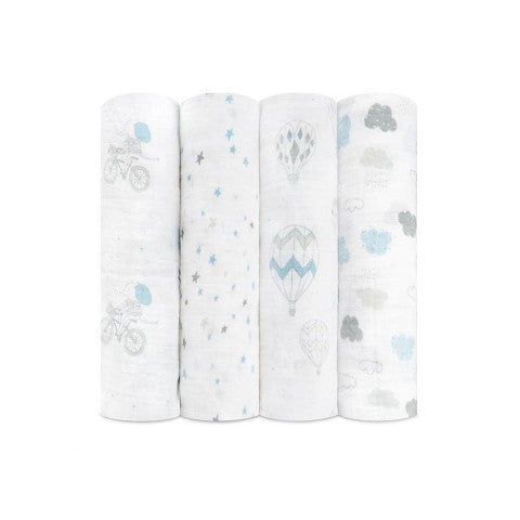Aden and Anais Swaddle 4 Pack - Night Sky Reverie