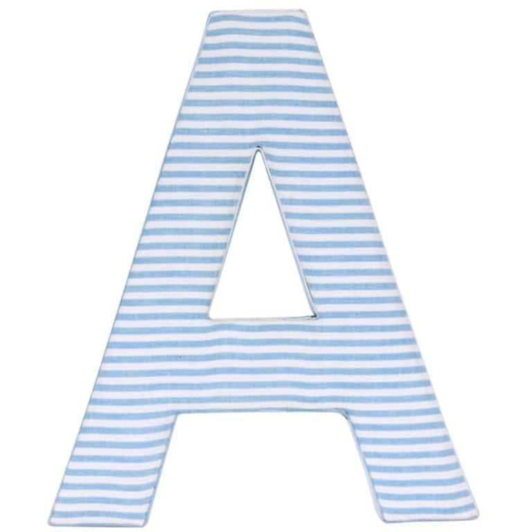 Blue Candystripe Fabric Letters (Pls contact shop for availability)