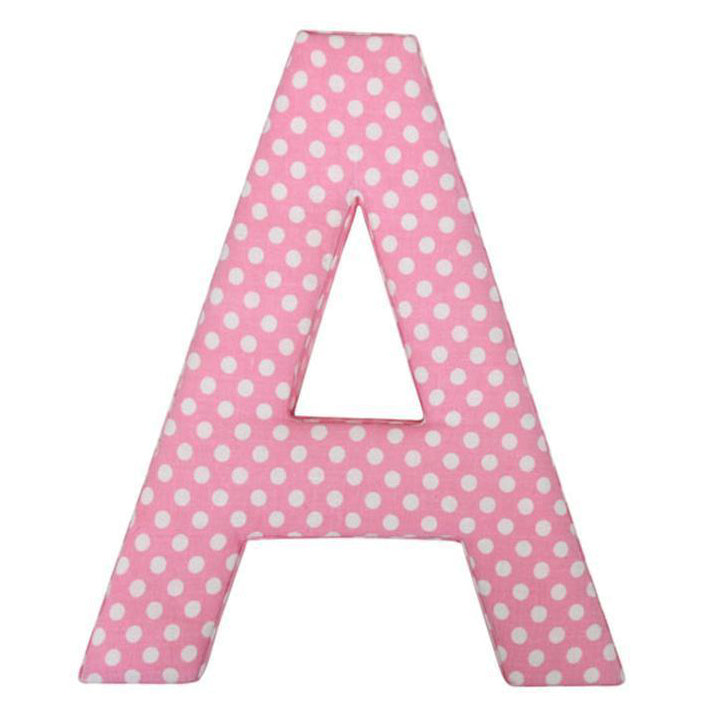 Pink Dotty Fabric Letters