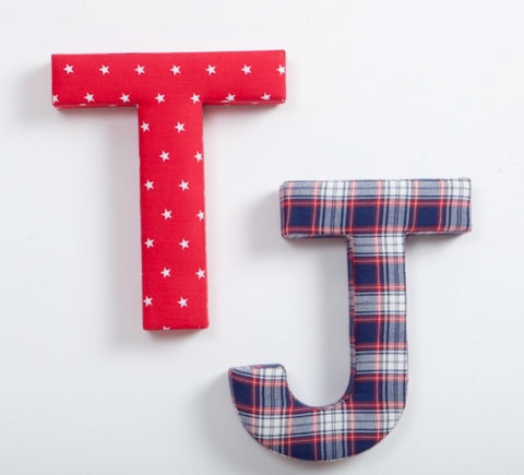 Red Star Fabric Letter