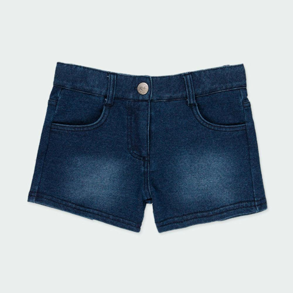Boboli Girls Denim Shorts in Blue