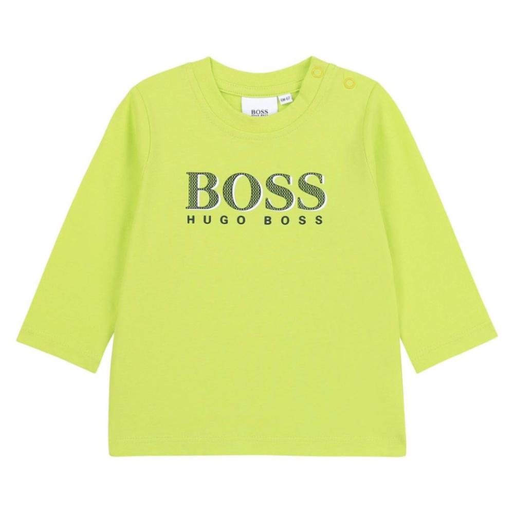Boss Boy's Monogram Logo T-Shirt - Yellow