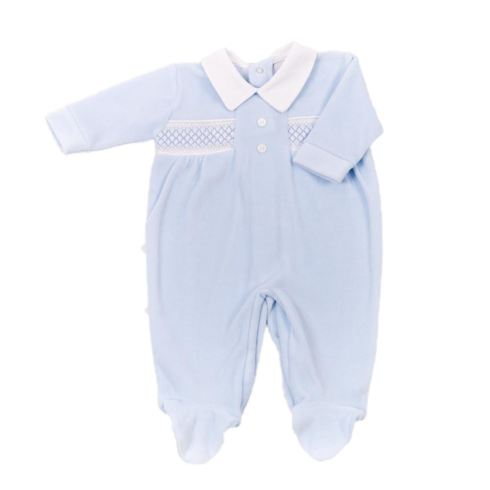 dandelion button babygrow blue
