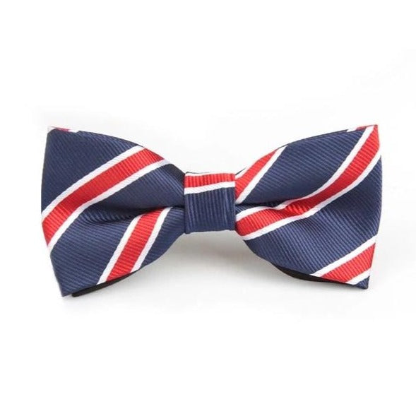 Navy, Red & White Dickie Bow